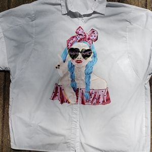 Shein Young Money Button Up